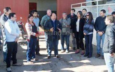 Salomón visitó la planta de tratamiento de residuos sólidos