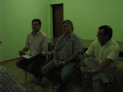 Reunión del bloque de concejales del GEN con instituciones de Chillar