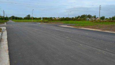 El municipio finalizó la obra de pavimento en Av. Balcarce
