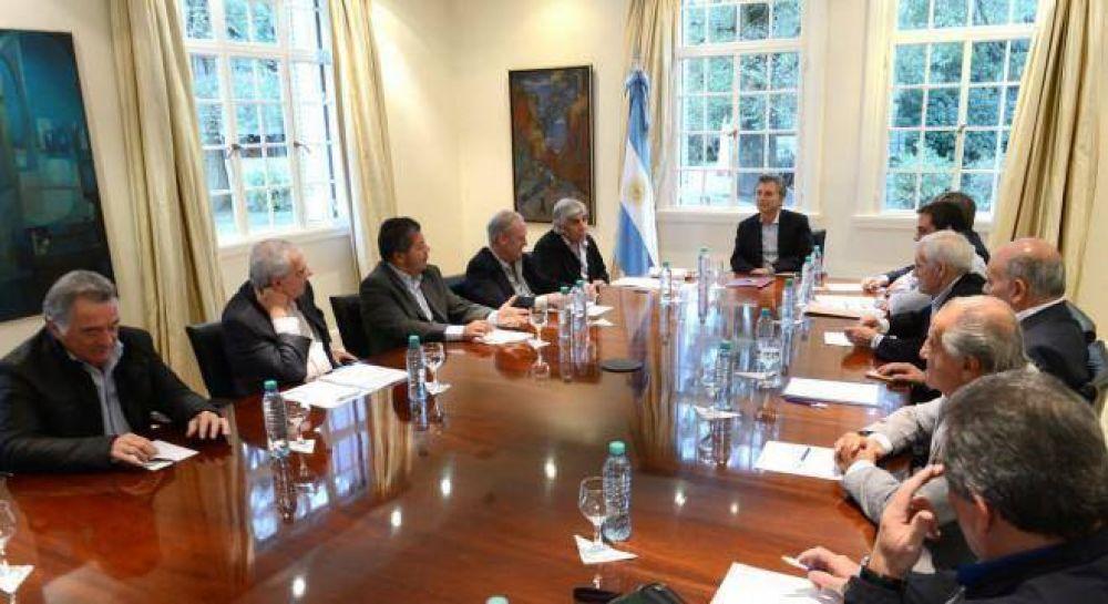 Frío diálogo de Macri con la CGT, pero no llegó al enfrentamiento