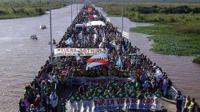 Botnia: la Marcha al Puente es de inter�s provincial y buscan replicarlo en el pa�s