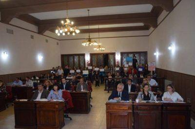 El HCD apoy� a los trabajadores del CAJ, a La Minga y las bibliotecas