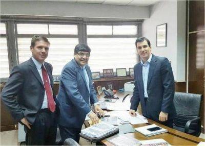 Arcando se reunió con funcionarios de Nación