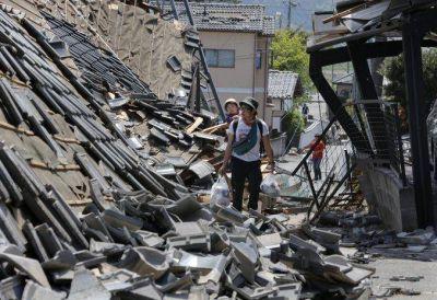 Japón descarta tsunami tras el fuerte terremoto de 7 grados en sur del país
