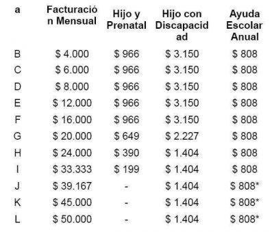 Cuánto cobrará cada monotributista por las nuevas asignaciones
