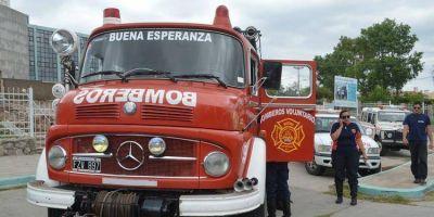 Alberto Rodríguez Saá y bomberos voluntarios limaron asperezas en Terrazas