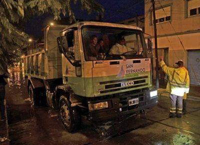 El Municipio dispuso un gran operativo por la sudestada en San Fernando