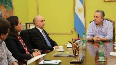 Passalacqua recibi� a comitiva del Programa de Naciones Unidas para el Medio Ambiente