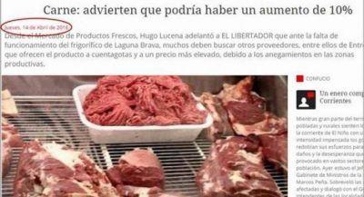 Mientras el precio de la carne baja en Buenos Aires, en Corrientes subi� un 8%