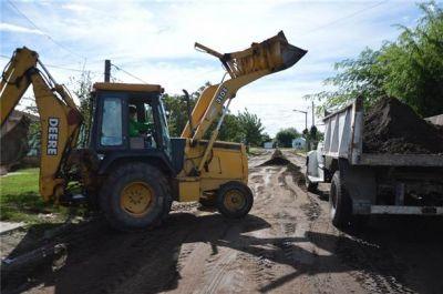 Comenzaron los trabajos previos en la calle Río Gallegos