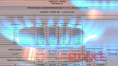 Fuertes aumentos: Los detalles de las nuevas tarifas de gas en Entre Ríos