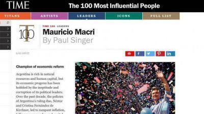 Mauricio Macri fue elegido entre las 100 personas más influyentes del mundo