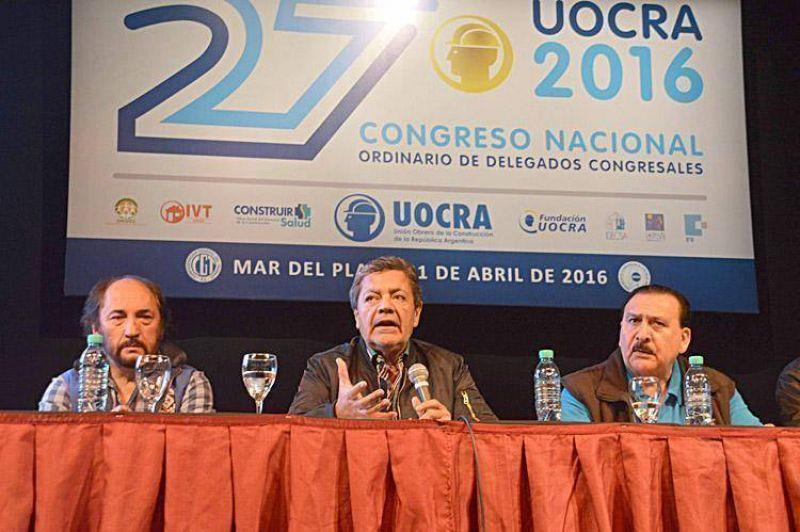 """El líder de la Uocra llamó a formar un sindicalismo """"unido y moderno"""""""