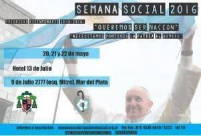 Los obispos invitan a participar de la Semana Social de Mar del Plata 2016