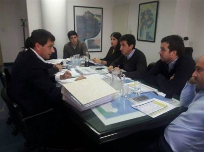 Bucca le presentó a Cenzón los proyectos de obra pública