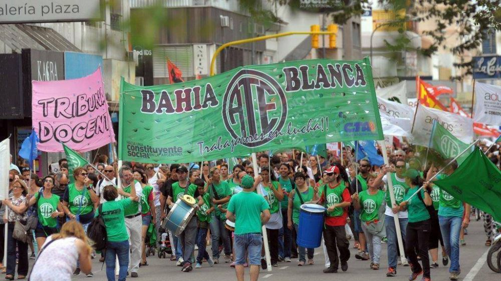 Comienza un paro por 72 horas que se sentirá con fuerza en Bahía Blanca