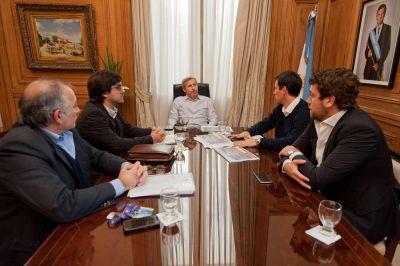 Frigerio se comprometió con el Intendente de La Paz a construir 300 viviendas en la ciudad