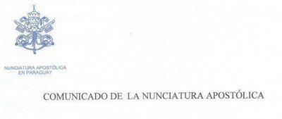 Comunicado de la Nunciatura Apostólica en Paraguay