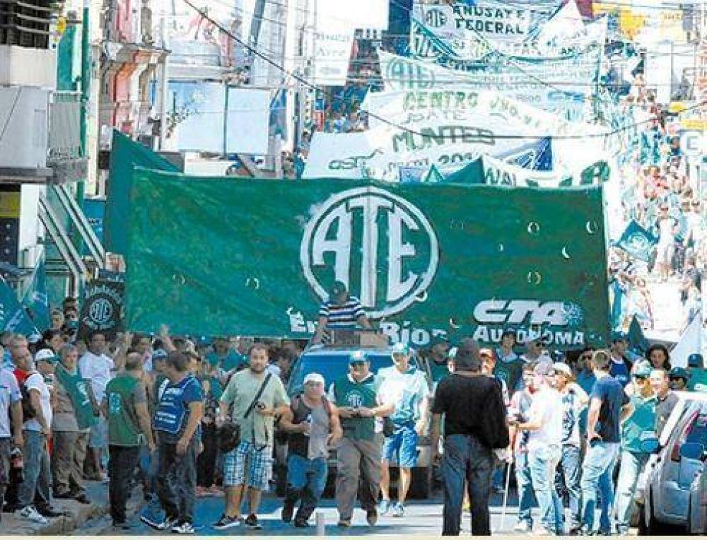 Este viernes ATE realizará un congreso ordinario y se movilizará a la Plaza 1º de Mayo de Paraná