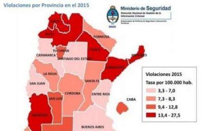 Salta es la provincia con mayor tasa de violaciones en el pa�s