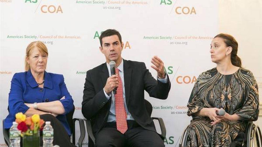 Michetti, Urtubey y Stolbizer hablaron de diálogo ante inversores