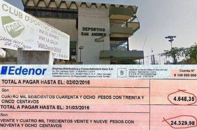 Tarifazo: alerta en los clubes sociales de San Mart�n por aumentos de hasta el 520%