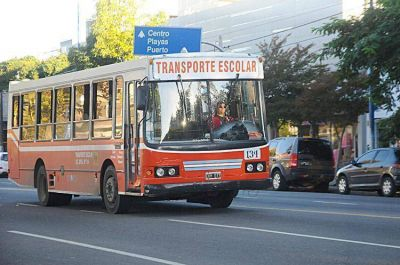 En medio de denuncias cruzadas las empresas no brindar�n hoy el servicio de transporte escolar