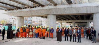 Macri, Larreta y Vidal recorrieron las obras de Puente La Noria