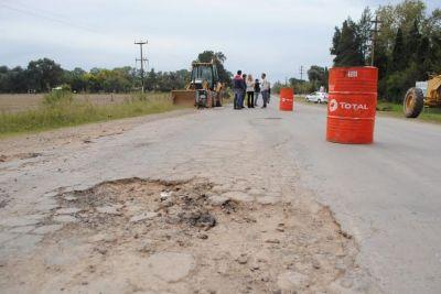 Se reiniciaron las obras de reparación del puente sobre nivel de Ruta 41