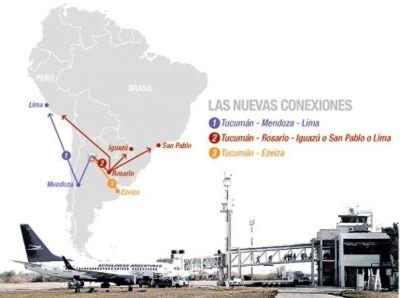Tucumán quiere abrir nuevas rutas aéreas hacia Ezeiza, Lima y San Pablo