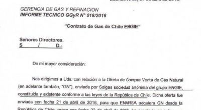 Exclusivo: Aranguren compra gas a Chile en forma directa y paga 128% m�s caro que a Bolivia