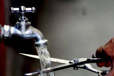 Corte de agua programado