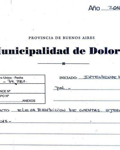 """Etchevarren afirmó """"nuestra economía municipal está saneada y sin deudas"""", sin embargo la Rendición de Cuentas muestra un déficit de más de 14 millones de pesos"""