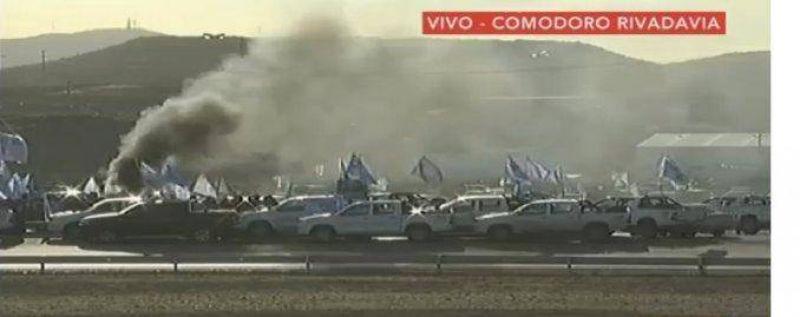 Hist�rica movilizaci�n de petroleros en Comodoro Rivadavia