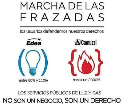"""""""Marcha de las frazadas"""" para protestar contra los aumentos de la luz y el gas"""