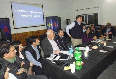 Con críticas a los Macri se reunió el Frente Renovador de Vicente López