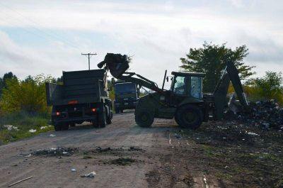El Municipio realiza la limpieza de basurales a cielo abierto
