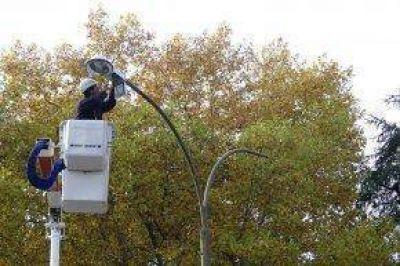 Comenzaron trabajos de iluminación en el Parque Municipal