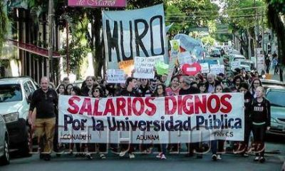 Gran acatamiento en la protesta por la educación pública en Misiones