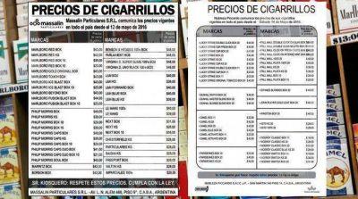 Por la caída en el consumo, bajaron los precios de todos los cigarrillos