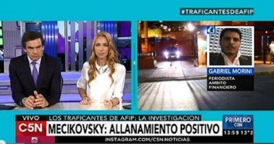 Traficantes de la AFIP: hallan importantes pruebas en el domicilio de Mecikovsky