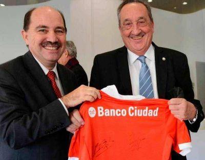 Lunghi se reunió con el presidente del Banco Ciudad