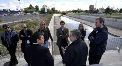 Vidal busca reactivar las obras hidráulicas de La Plata y terminarlas para 2017