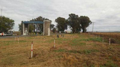 Forestaron con 160 árboles el acceso a San Luis por Vizcacheras