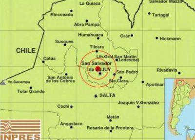 Tembló Jujuy: se registró un sismo de 3.9 grados