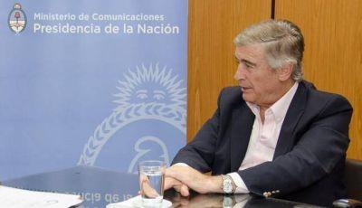 Aguad se comprometió a trabajar con el Gobierno Provincial para mejorar las comunicaciones del interior