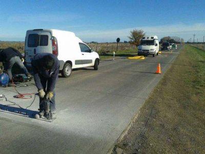 Camino de los Pueblos: colocan reductores de velocidad