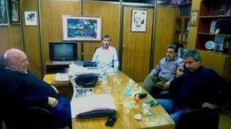 Rubén Rodríguez mantuvo una reunión en la Federación de Sindicatos Municipales