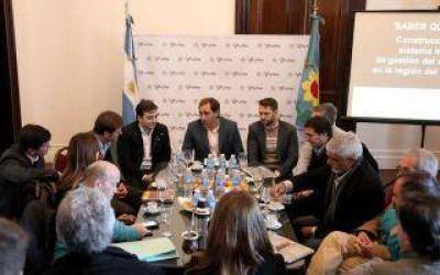 Los intendentes de La Plata, Berisso y Ensenada se reunieron por obras hídricas