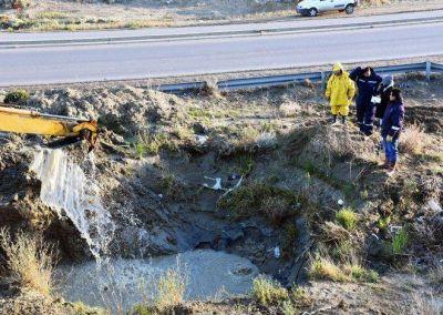 Una nueva rotura del viejo acueducto provoca baja de presión en zona norte